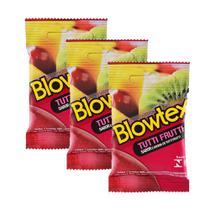 Kit c/ 3 Pacotes Preservativo Blowtex Tutti-Frutti c/ 3 Un Cada -