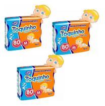 Kit C/3 Pact Fralda Toquinho Confort Sec - Tam M C/240 Unid -
