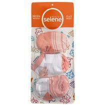 Kit C/3 pares de meias para recém nascido de menina Selene -