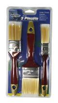 Kit c/ 3 Pincel de Pintura Cabo Madeira - 106825 - Etilux