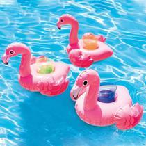 Kit c/ 3 Porta Copos Flamingo Intex -