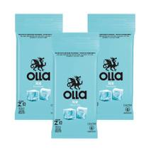 Kit c/ 3 Preservativo OLLA Lubrificado Ice 6 unidades -