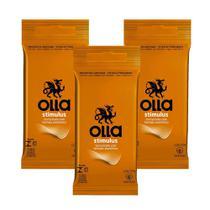 Kit c/ 3 Preservativo OLLA Lubrificado Stimulus 6 unidades -