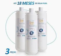 Kit c/ 3 refil girou trocou c+3  filtro purificador de agua bacteriologico ibbl  (original) -