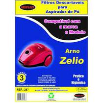 Kit c/3 Sacos Descartáveis Aspirador Arno Zelio - Oriplast