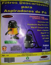 Kit c/3 Sacos Descartáveis Aspirador Electrolux A10 - Oriplast