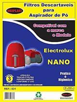 Kit c/3 Sacos Descartáveis Aspirador Electrolux Nano/Neo - Oriplast