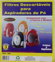 Kit c/3 Sacos Descartáveis Aspirador Electrolux Neo Listo - Oriplast