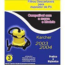 Kit c/3 Sacos Descartáveis Aspirador Karcher 2003/2004 - Oriplast