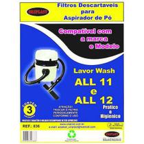 Kit c/3 Sacos Descartáveis Aspirador Lavor Wash ALL11/ALL12 - Oriplast