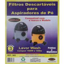 Kit c/3 Sacos Descartáveis Aspirador Lavor Wash Compact 1400 e 1450W - Oriplast