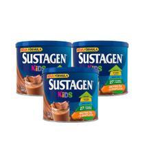 Kit c/ 3 Sustagen Kids 380g Chocolate -