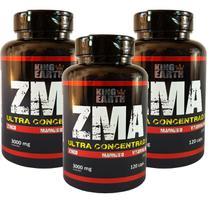 Kit C/ 3 un. Vitamina ZMA 360 Cápsulas 3000 Mg - King Earth - Rei Terra
