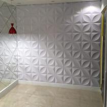 Kit C/ 30 Placas(7,5m²) Revestimento Parede Alto Relevo Painel 3d - Lourenço