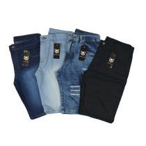 kit c/ 4 bermuda jeans masculina Destroyed Oferta Ilimitada - Mania Do Jeans