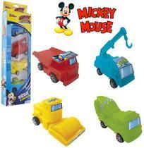 Kit c/ 4 Caminhão Construção Mickey - 133586 - Etilux