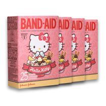 Kit c/ 4 Curativos BAND AID Hello Kitty 25 unidades -