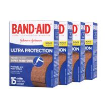 Kit c/ 4 Curativos BAND AID Ultra Protection 15 unidades -