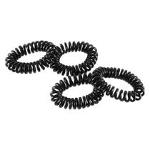 Kit C/ 4 Elásticos De Cabelo Modelo Espiral Black Marco Boni -