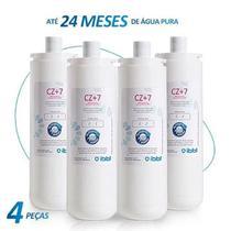 Kit c/ 4 filtro refil purificador girou trocou ibbl cz+7 (original) -