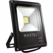 Kit c/ 4 Refletor Holofote de Led Maxtel 20w Branco Bivolt -