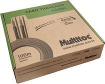 Kit C/5 Cabo Coaxial Bipolar 4mm 100m Slim Cftv Trançado Br - Connect Cable