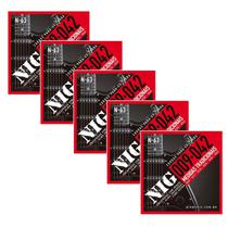 Kit C/ 5 Encordoamento Níquel Para Guitarra Elétrica Nig 009 -