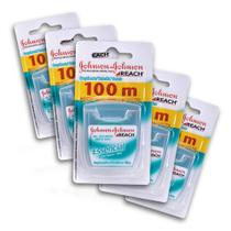 Kit c/ 5 Fio Dental REACH Johnson's Essencial 100m -