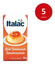 Kit C/5 Leite Condensado - Italac 395g -