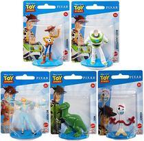 Kit c/ 5 Mini Figuras Toy Story 4 - Disney Pixar - Mattel -