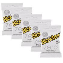 Kit c/ 5 Pacotes Preservativo Blowtex Zero c/ 3 Un Cada -