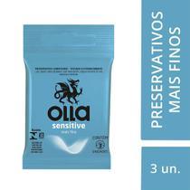 Kit c/ 5 Preservativo OLLA Lubrificado Sensitive 3 unidades -
