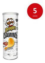 Kit C/5 Salgadinho De Batata Pizza Pringles Gaming Tubo 115g -