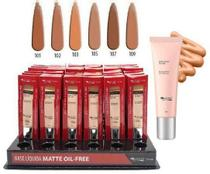 Kit c/6 base líquida matte oil free max love 108 -