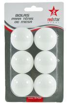 Kit c/ 6 Bolas de Ping Pong Bolinhas para Tênis de Mesa 4 Cm Sem Emendas Cores Sortidas, Redstar ELJ0403 - 125808 - Wincy