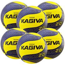 Kit C/ 6 Bolas de Vôlei Kagiva 2.0 -