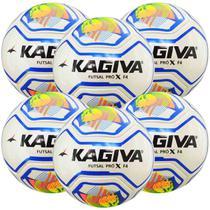 Kit C/ 6 Bolas Infantil Kagiva F4 Pro X Sub 13 Futsal -