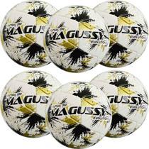 Kit C/ 6 Bolas Infantis Magussy Evolution X-Fusion Max 200 Futsal Sub 13 -