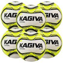 Kit C/ 6 Bolas Kagiva Slick Futsal Tech Fusion Impermeável - Topper