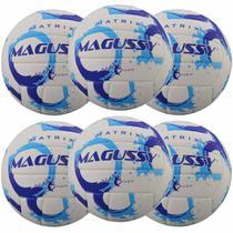 Kit C/ 6 Bolas Magussy Vôlei Matrix Soft Touch -