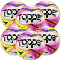 Kit C/ 6 Bolas Topper Beach Soccer TD1 Futebol de Areia - Kagiva