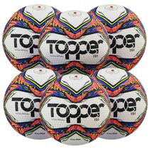 Kit C/ 6 Bolas Topper Samba TD1 Tech Fusion Futsal -