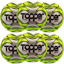 Kit C/ 6 Bolas Topper Slick Futsal Tech Fusion Impermeável -