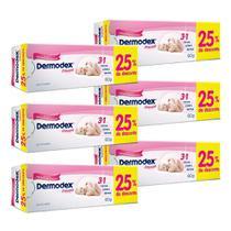 Kit c/ 6 Creme para Prevenção de Assaduras Dermodex Prevent 60g -