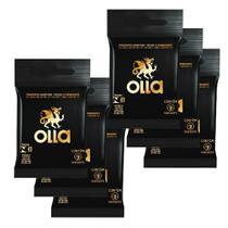 Kit c/ 6 Preservativo OLLA Lubrificado 3 unidades -