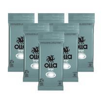 Kit c/ 6 Preservativo OLLA Lubrificado Large 6 unidades -