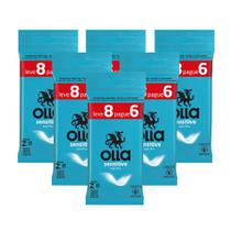 Kit c/ 6 Preservativo OLLA Lubrificado Sensitive Lv 8 Pg 6 -