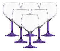 Kit c/ 6 Taças Grandezza para Gin com Pé Violeta 620ml - Vicrila