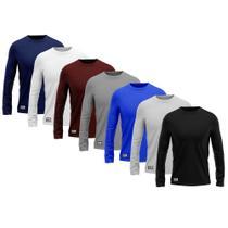 Kit c 7 Camisetas Camisas MXC BRASIL Manga Longa Lisa Proteção Solar UV +50 Preta Azul Vinho Cinza Branca -