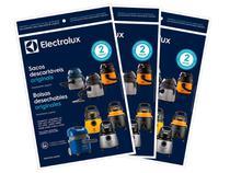 Kit c/ 9 Sacos Originais p/ Aspiradores Electrolux: A10 Novo, Flex, Acqua Power e Gt2000 (CSE10) -